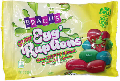 Brach's Giant Egg'Ruptions: Sour Juicy Filled Jumbo Jelly Beans packaging