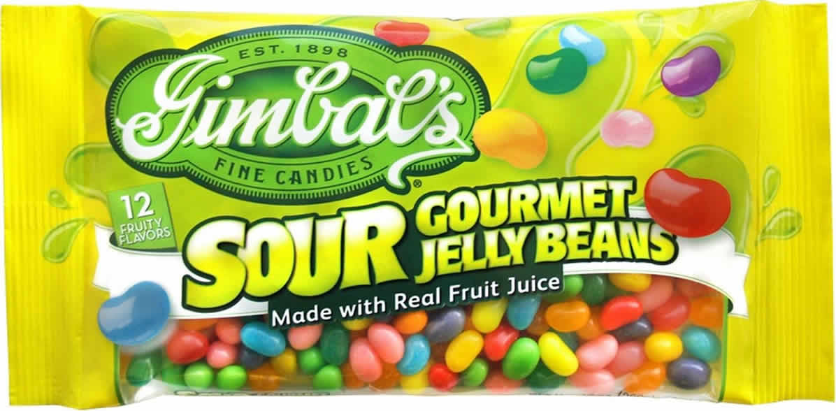 Gimbal's Sour Gourmet Jelly Beans packaging