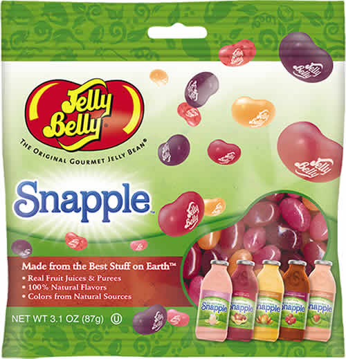 Jelly Belly: Snapple packaging
