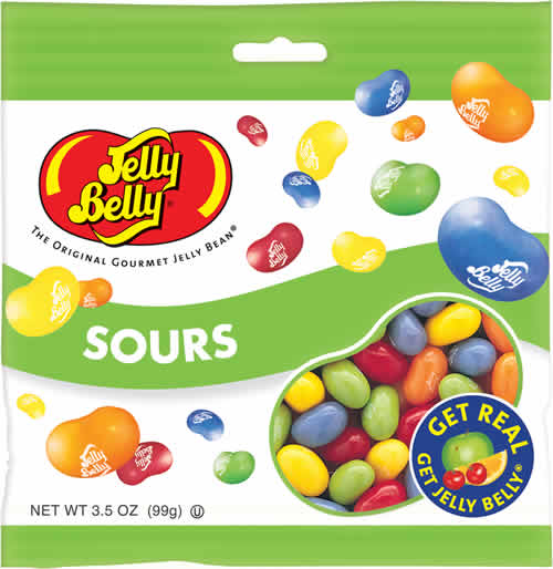 Jelly Belly: Sours packaging