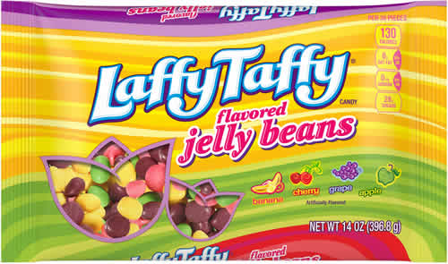 Laffy Taffy Flavored Jelly Beans packaging