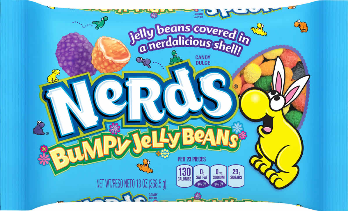 Nerds Bumpy Jelly Beans packaging