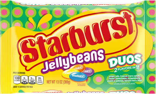 Starburst Jelly Beans: Duos packaging