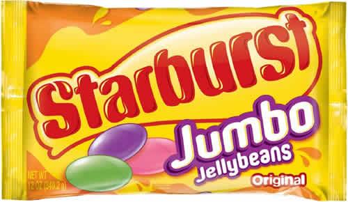 Starburst Jumbo Jelly Beans packaging