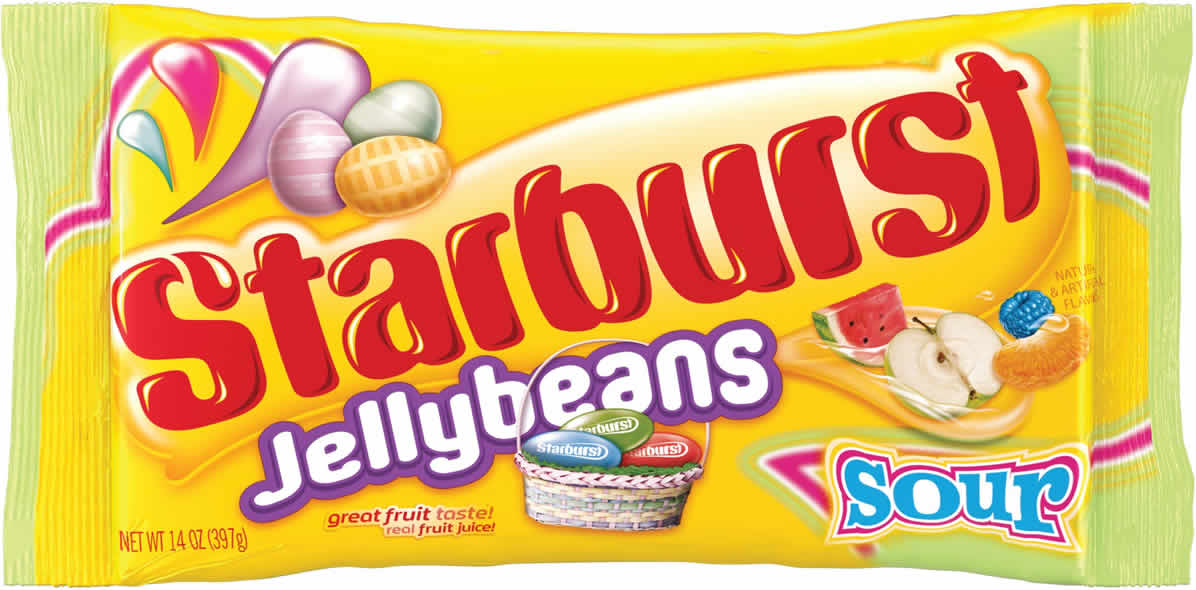 Starburst Jelly Beans: Sour packaging