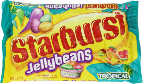 Starburst Jelly Beans: Tropical packaging