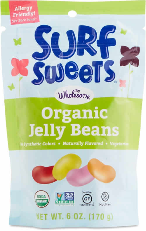 Surf Sweets Organic Jelly Beans packaging
