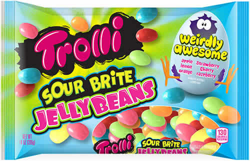 Trolli Sour Brite Jelly Beans packaging