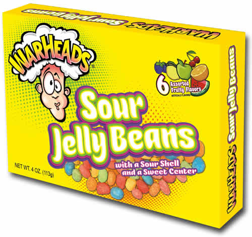 WarHeads Sour Jelly Beans packaging