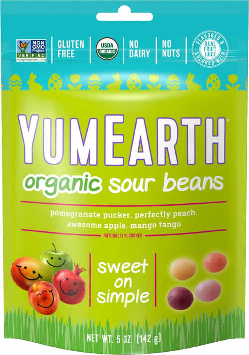 YumEarth Organic Sour Beans packaging